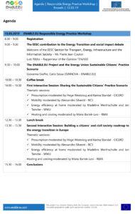 ENABLE.EU Responsible Practice Workshop agenda